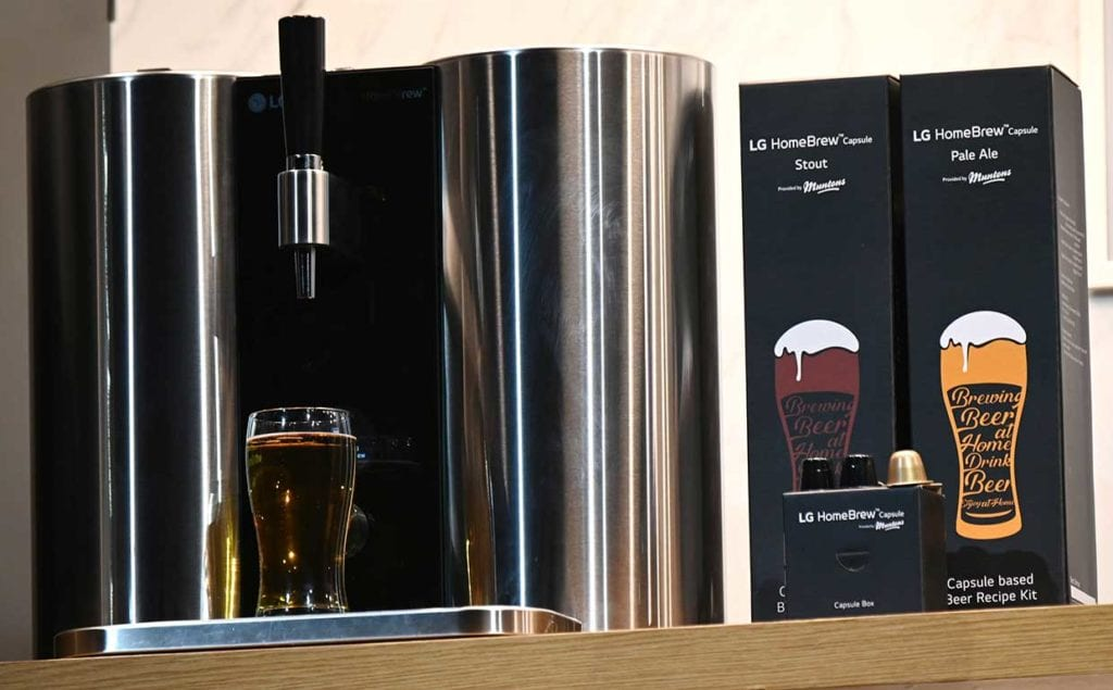 CES 2019: LG Wins CES Media Day with High-Tech Home Beer Brewery and Disappearing OLED TV