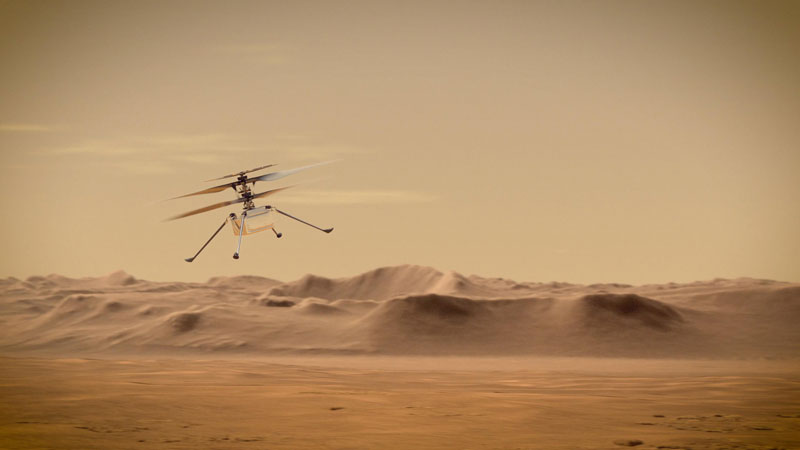 helicopter on mars rover