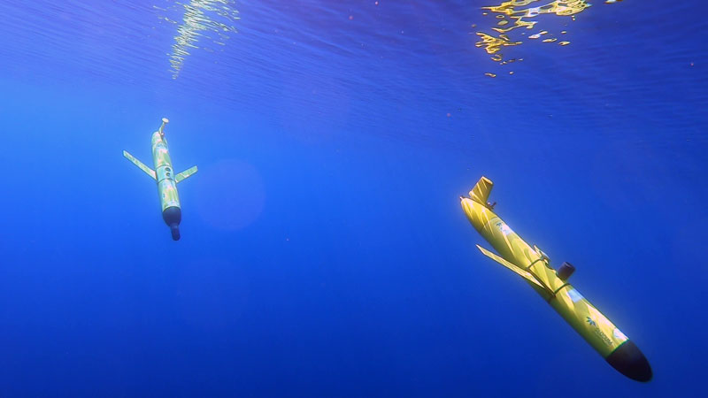 auv in water