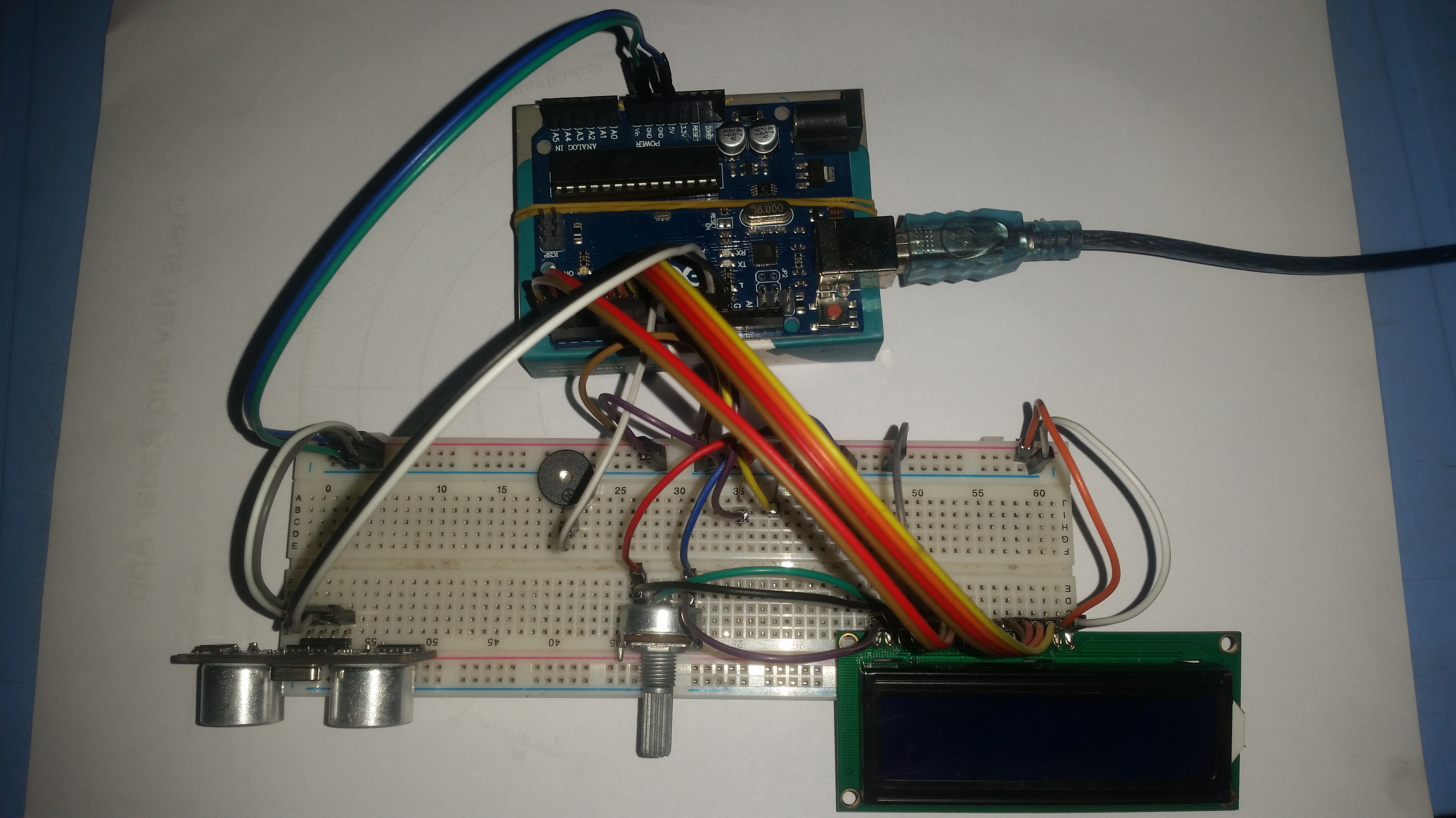 Ultrasonic doorbell system that detects visitors and