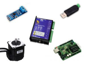 Control of RMCS1120 Hybrid Servo Drive by Arduino Master