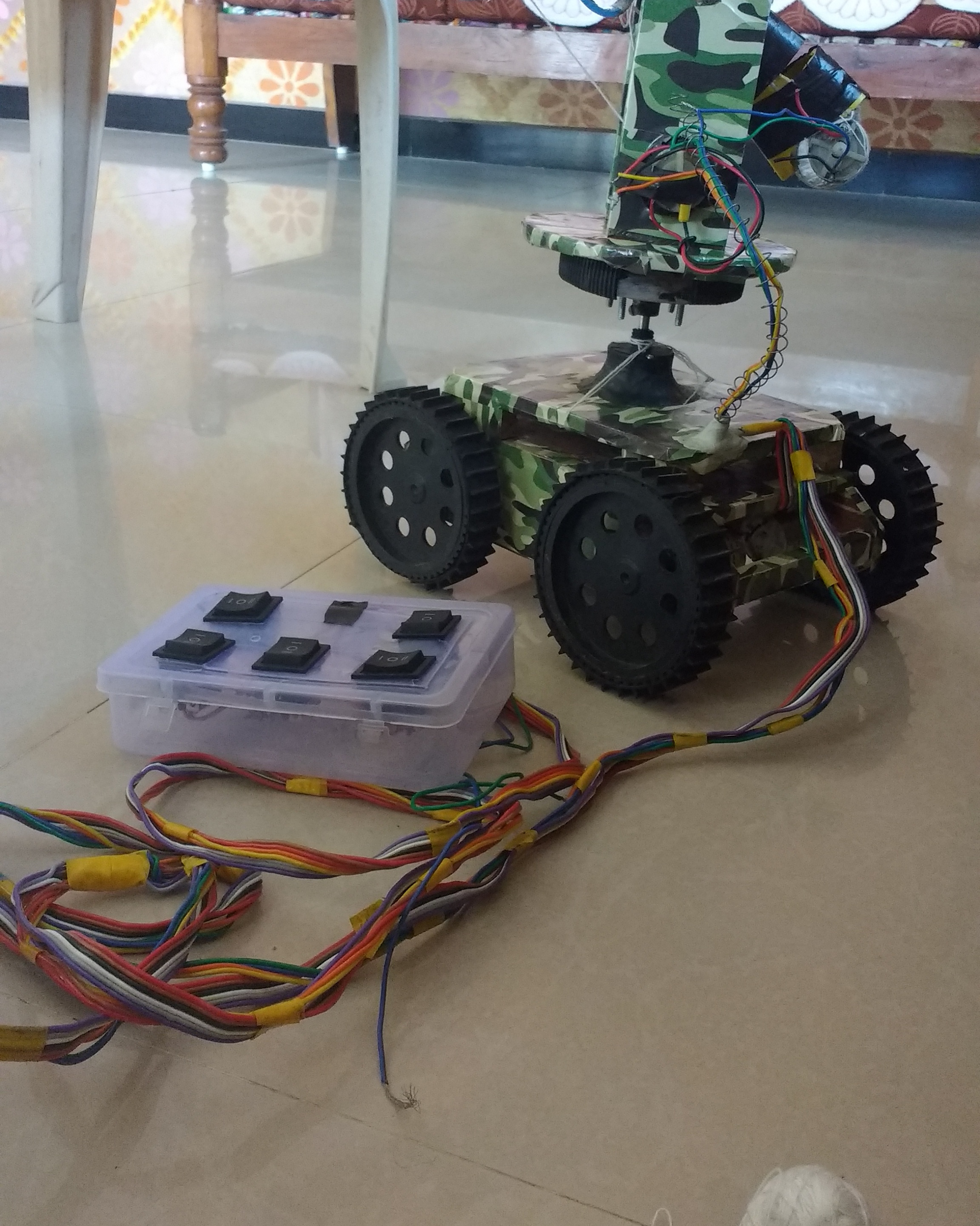 Remote Control Army Robot The Ieee Maker Project Electronics How To Make A Car Concept Of My Is Nothing But Wireless With Gun Toy Wirless Camra Pir Senr That Allow Set Target