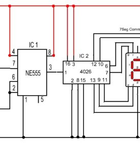 O-9 counter using IC 4026 - The IEEE Maker Project