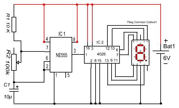 O-9 Counter Using Ic 4026